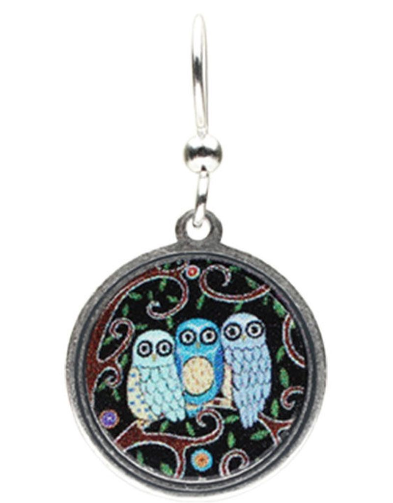Earth Dreams Earth Dreams Three Owls Earrings