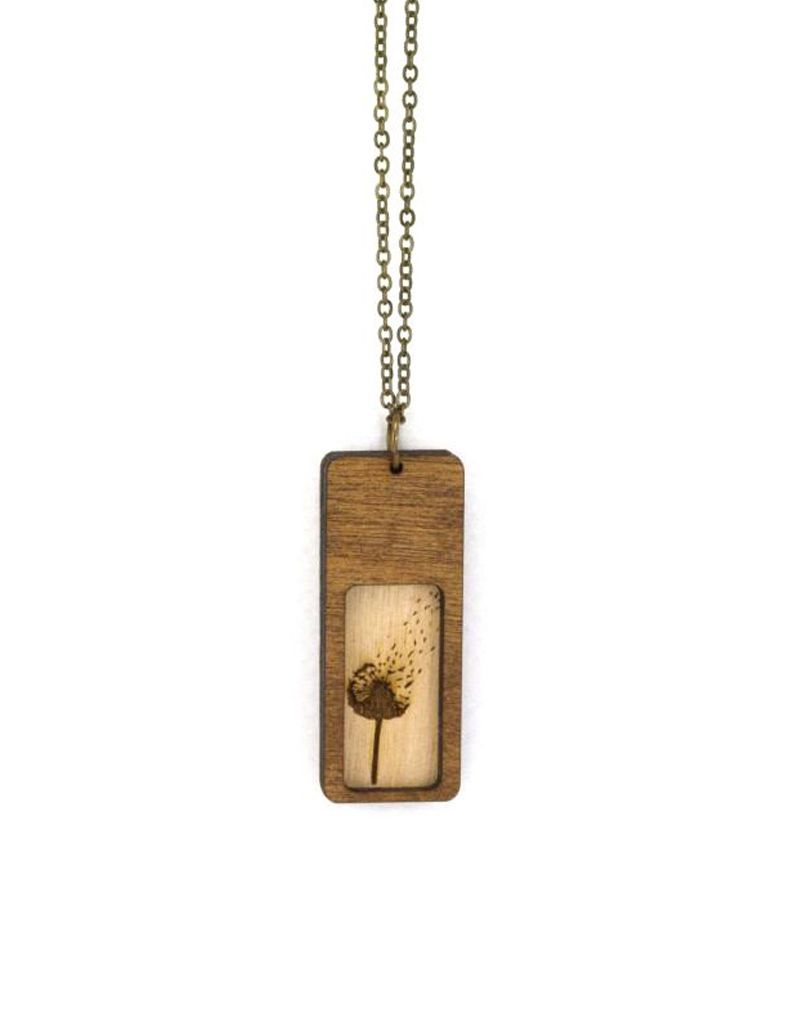 Unpossible Cuts Dandelion Necklace, Chestnut