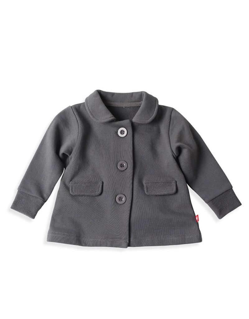 Zutano french terry peacoat