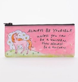 Blue Q Always Be a Unicorn Pencil Case
