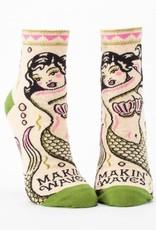 Blue Q Makin Waves Ankle Socks