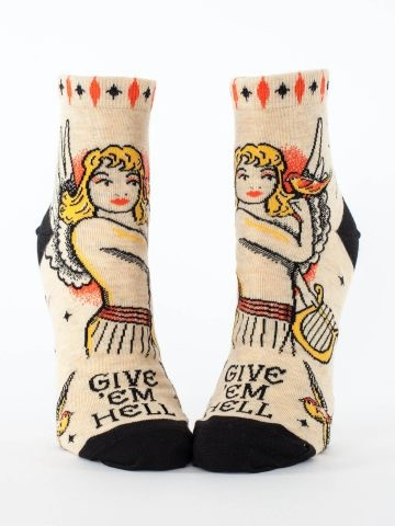 Blue Q Blue Q Give 'em Hell Ankle Socks