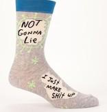 Blue Q Blue Q Not Gonna Lie, I Just Make Shit Up Men's Socks