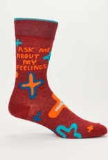 Blue Q Ask Me About Feelings Men's Socks