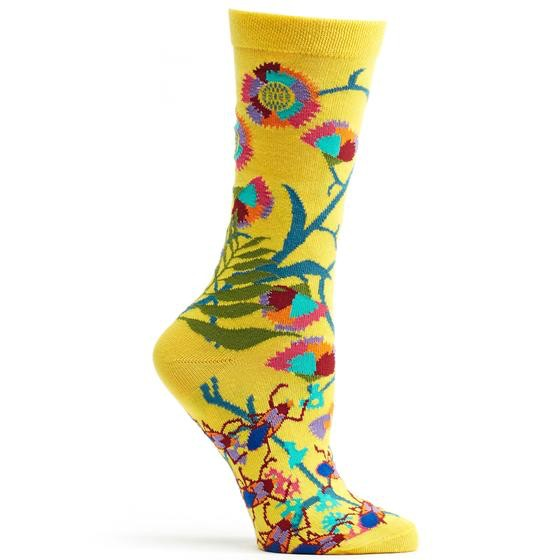 Ozone Designs African Floral Socks, Sunflower