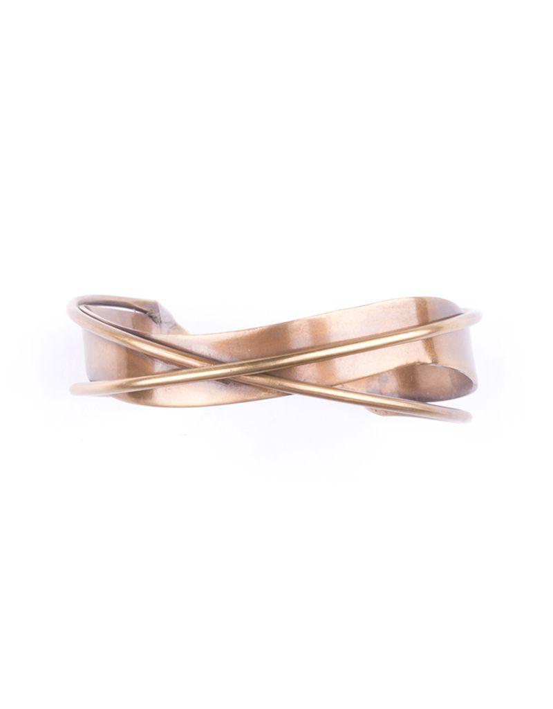 Mata Traders Interwoven Cuff, Gold