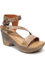 "jafa wide leather band sandal 2 3/4"" heel Handmade in Israel"