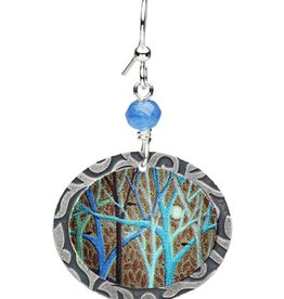 Earth Dreams Blue Moon and Tree Earrings