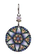 Earth Dreams Purple Lotus Mandala Earrings