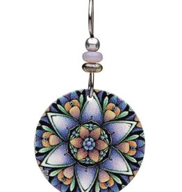 Earth Dreams Purple Lotus Mandala Earrings