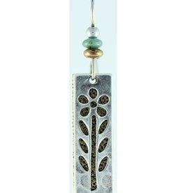 Earth Dreams Silver and Brass Long Flower Earrings