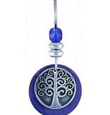 Earth Dreams Earth Dreams Silver Tree of Life Earrings, Blue Stone