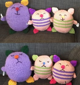 Margarete Vicinus Handmade Knit Happy/Sad Roly Poly
