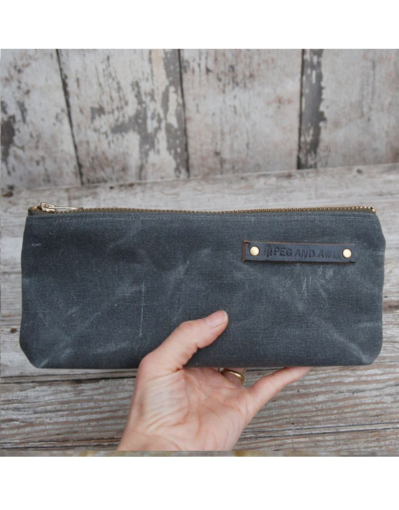 Peg and Awl Waxed Canvas Pouch