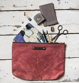 Peg and Awl Peg & Awl Large Waxed Canvas Pouch