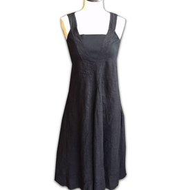 Porto Porto Square Neck, Cotton/Linen Ankle Length Dress