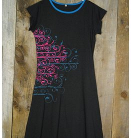 Nusantara Cotton Cap Slv. Dress w/ Embroidery