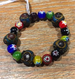 Nusantara Spirit Bracelet with Ceramic & Glass Beads