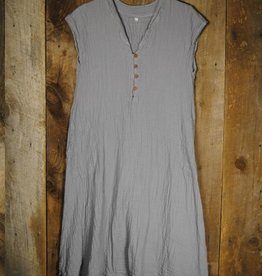 Nusantara Thai Cotton Cap Slv. V-Neck Dress