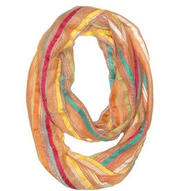 Rising Tide Striped Loose Weave Infinity Scarf