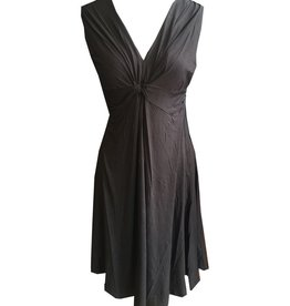 Dunia Vera Black Sleeveless Dress