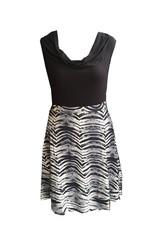 Dunia Sarah Skirt, Black and White Flare