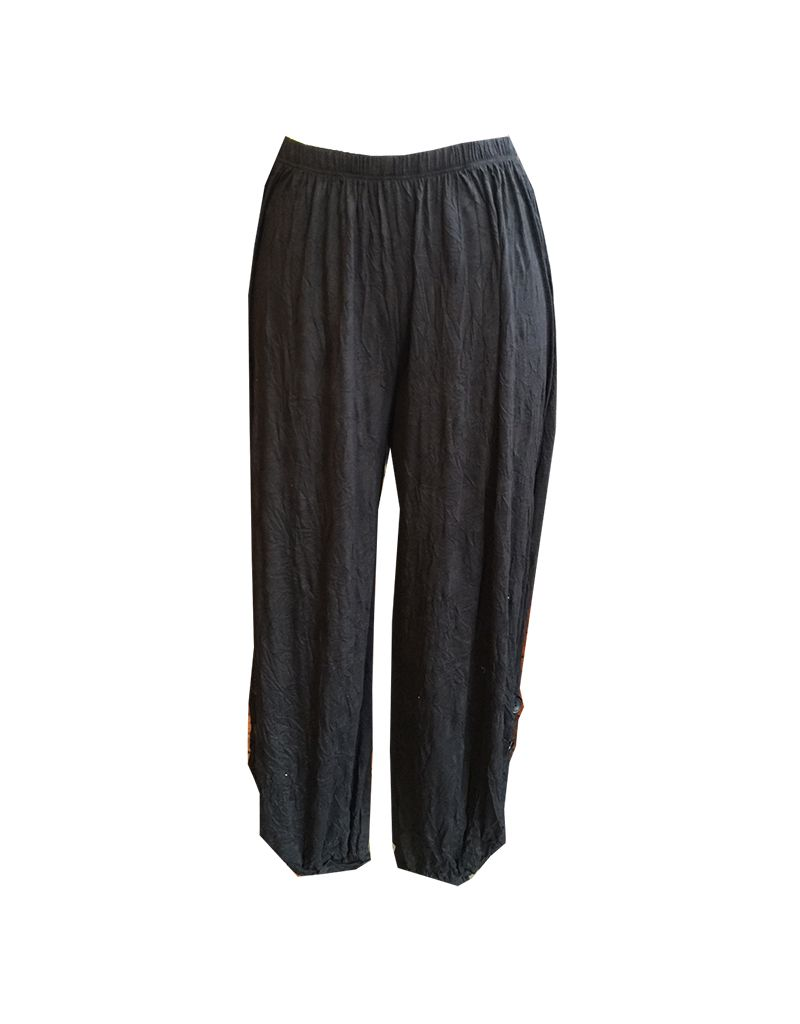 Comfy crinkle 2 button pant