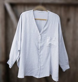 Cut Loose Hanky Linen Oversized Shirt