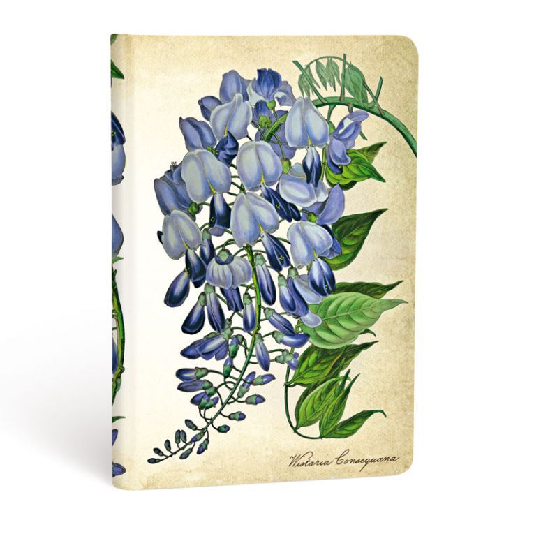 Hartley & Marks Blooming Wisteria Mini Lined Notebook