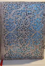 Hartley & Marks Silver Filigree, Maya Blue Grande Unlined Notebook
