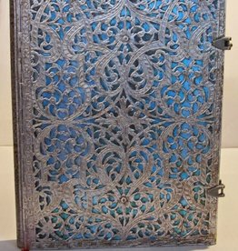 Hartley & Marks Silver Filigree, Maya Blue Grande Unlined Notebook