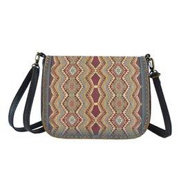 Lavishy International Bori Faux Leather Crossbody Bag - Turkish Pattern