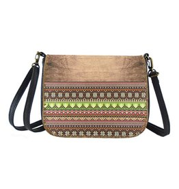Lavishy International Bori Faux Leather Crossbody Bag - Aztec Pattern