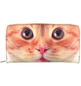 Lavishy International Large Faux Leather Wallet - Cat