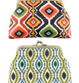 Lavishy International Ikat Kiss Lock Coin Purse