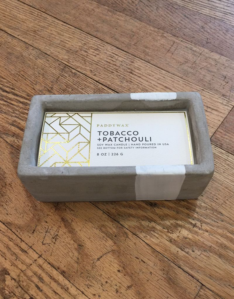 Paddywax Urban Concrete Rectangle 8 oz Candle - Tobacco & Patchouli