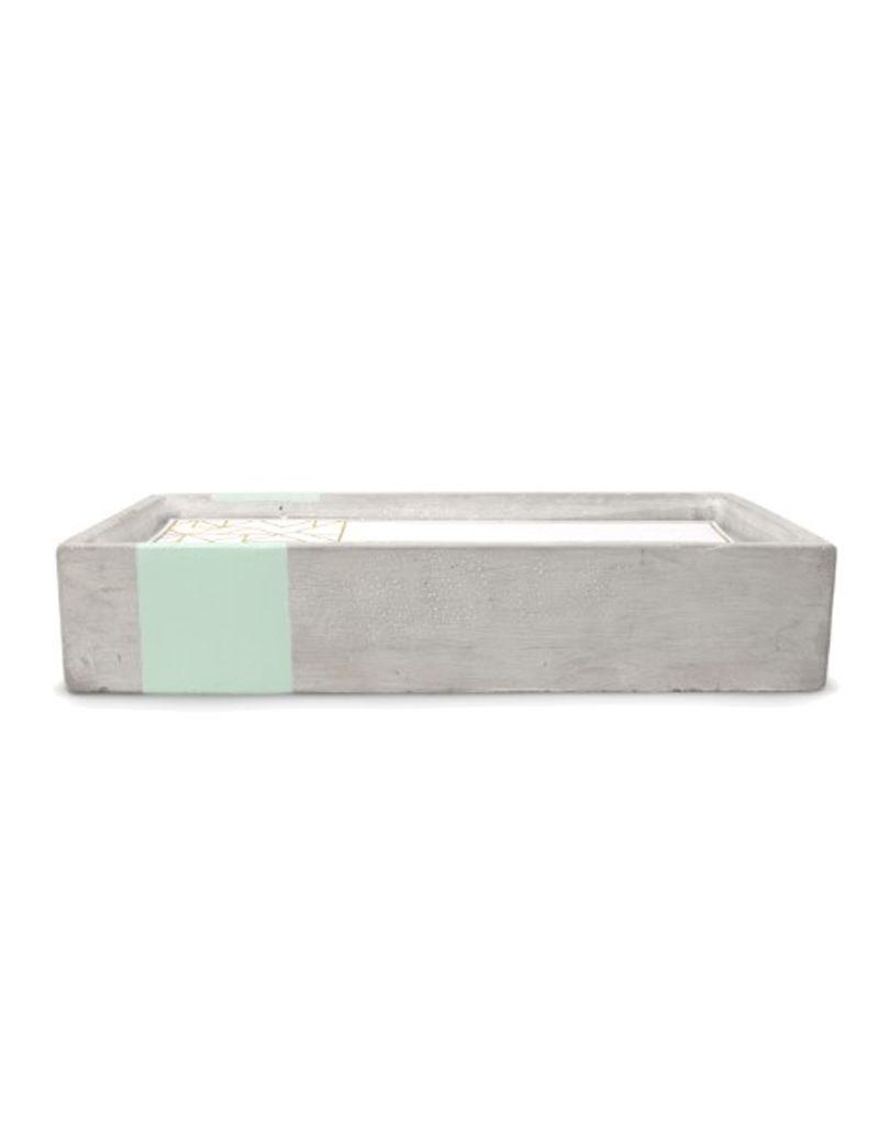 Paddywax Urban Concrete Rectangle 8 oz Candle - Sea Salt & Sage