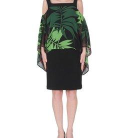 Joseph Ribkoff Joseph Ribkoff Green Leaf Overlay Dress