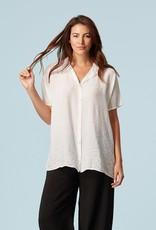 Cut Loose Boxy Button Up Shirt, Rayon Parachute