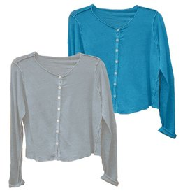 Cut Loose Cut Loose Long Sleeve Button Front Top