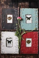 Creative Co-op Embossed Metal Photo Frame