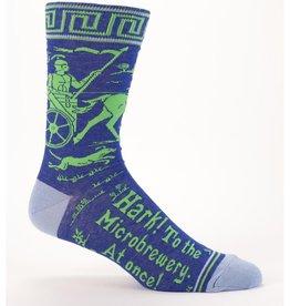 Blue Q Blue Q Hark! Microbrewery Men's Crew Socks