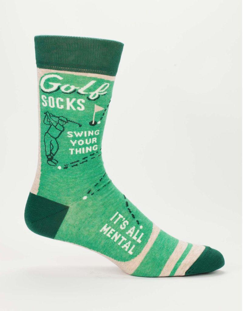 Blue Q Blue Q Golf Men's Crew Socks