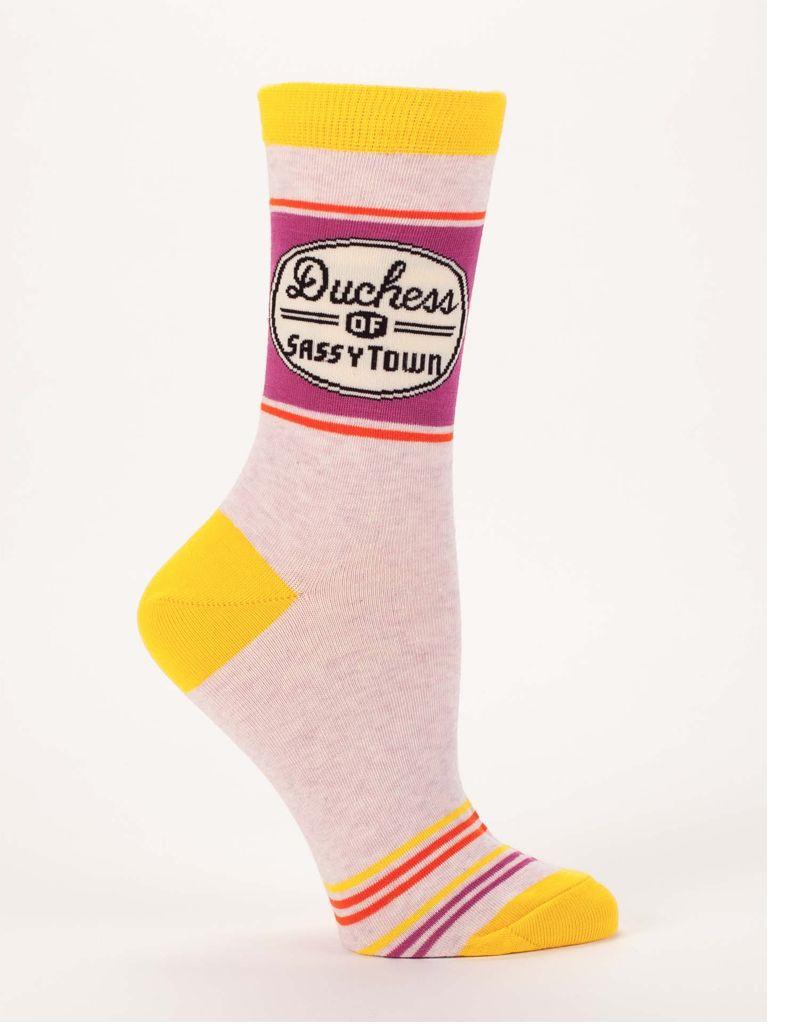 Blue Q Blue Q Duchess of Sassytown Women's Crew Socks