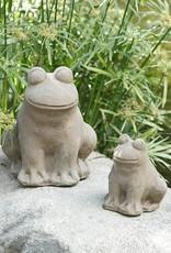 Garden Age Stone Frog 8â€ù - Volcanic Ash