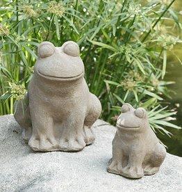 "Garden Age Stone Frog 8"" - Volcanic Ash"