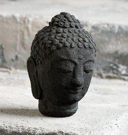 "Garden Age Buddha Head - Desk Top 6"", Volcanic Ash"