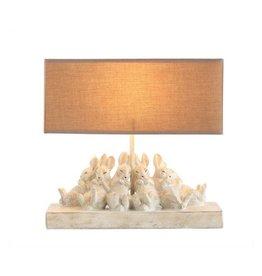 "Creative Co-op Polyresin Rabbit Lamp 14"""