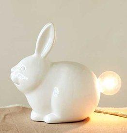Creative Co-op Ceramic Bunny Lamp 9-1/4