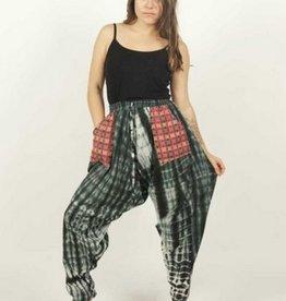 Zig Zag Tie-Dye Cotton Harem Pants